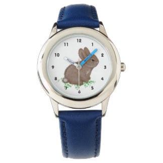 Adorable Bunny in Clover (left hand) Watch