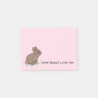 Adorable Bunny in Clover Post-it Notes