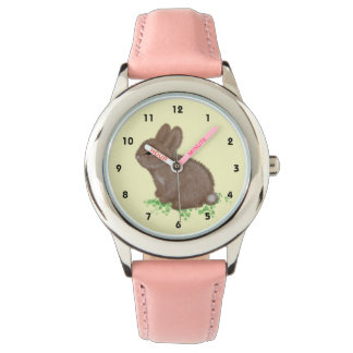 Adorable Bunny in Clover (right hand) Watch