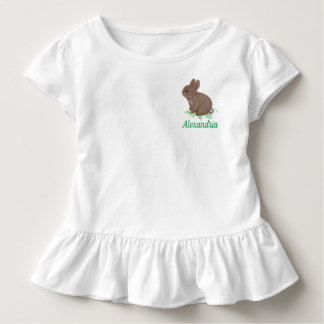Adorable Bunny in Clover with Name Toddler T-Shirt