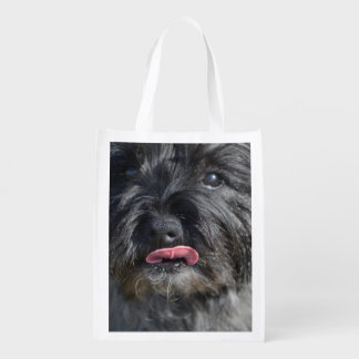 Adorable Cairn Terrier Reusable Grocery Bag