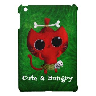 Adorable Cannibal Halloween Cat iPad Mini Covers