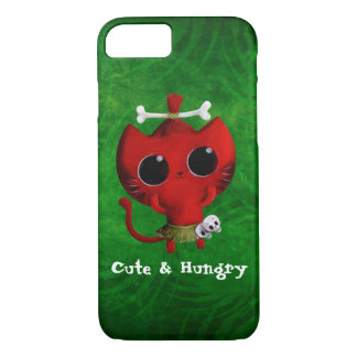 Adorable Cannibal Halloween Cat iPhone 8/7 Case