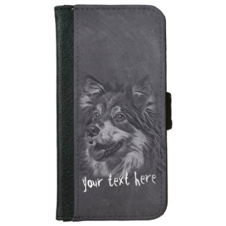Adorable Cartoon Dog Pet Care Grooming Sitting iPhone 6 Wallet Case