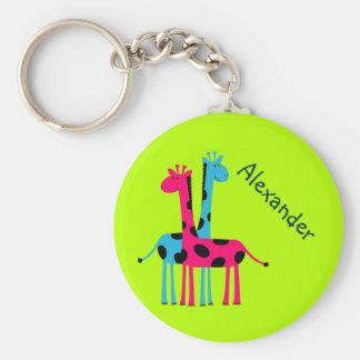 Adorable Cartoon Giraffes Key Chains