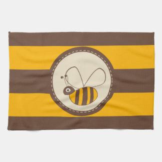Adorable Cartoon Honey Bee Tea Towel