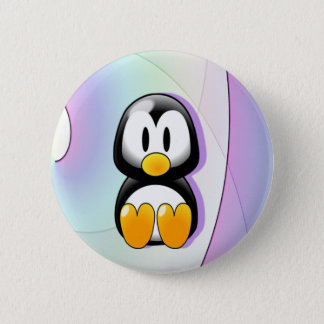 Adorable Cartoon Penguin 6 Cm Round Badge