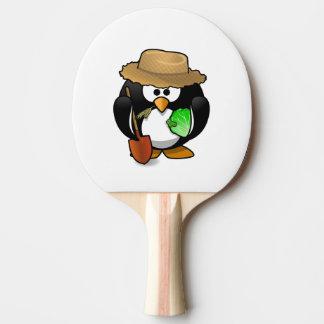 Adorable Cartoon Penguin Farmer