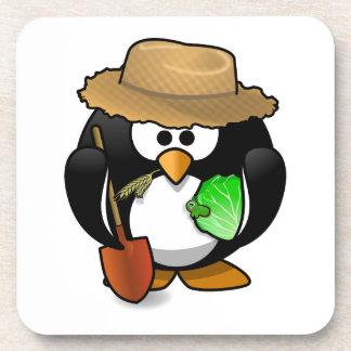 Adorable Cartoon Penguin Farmer Coaster