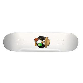 Adorable Cartoon Penguin Farmer Skateboards