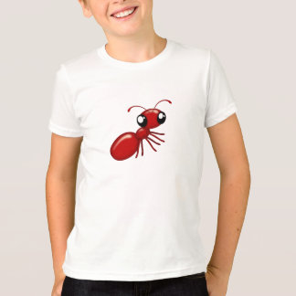 Adorable Cartoon Red Ant Unisex Youth Apparel T-Shirt