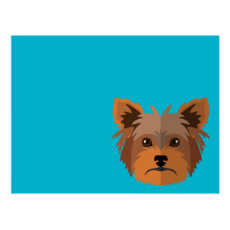Adorable Cartoon Yorkshire Terrier, Yorkie Postcard
