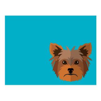 Adorable Cartoon Yorkshire Terrier, Yorkie Postcard