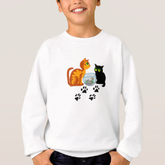 Adorable Cats At Play Sweatshirt