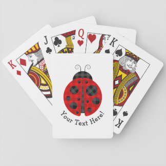 Adorable checkered plaid ladybug graphic icon playing cards