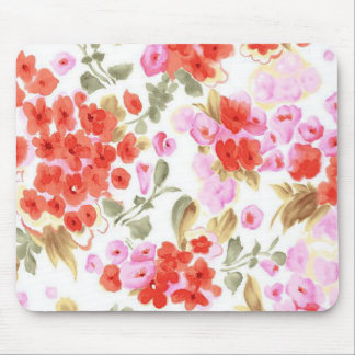 Adorable cheerful watercolor vintage gentle floral mouse pad