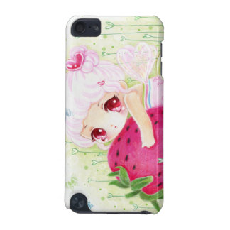 Adorable chibi girl with strawberry iPod touch 5G cover