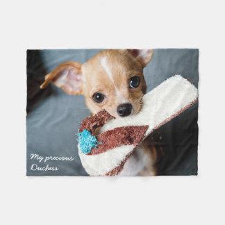 Adorable Chihuahua Fleece Blanket
