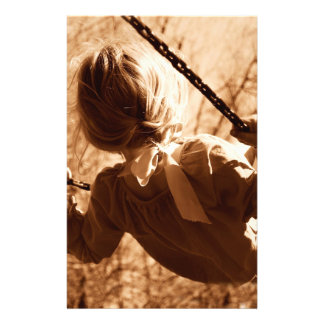 """Adorable Child Swing Happiness Sepia 5.5"""" X 8.5"""" Flyer"""