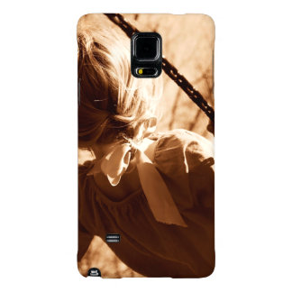 Adorable Child Swing Happiness Sepia Galaxy Note 4 Case