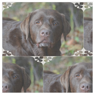 Adorable Chocolate Labrador Retriever Fabric