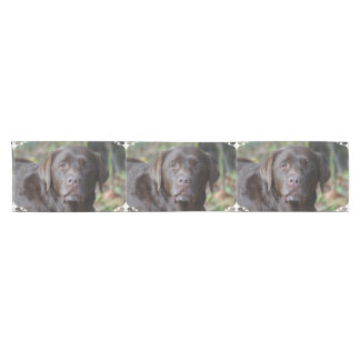 Adorable Chocolate Labrador Retriever Short Table Runner