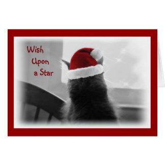 Adorable Christmas Kitten Card