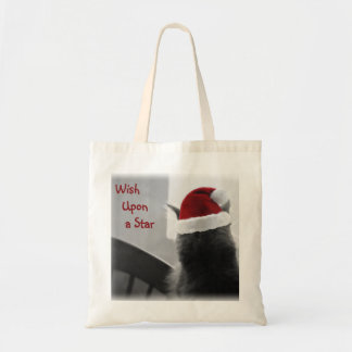 Adorable Christmas Kitten Tote Bag
