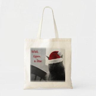 Adorable Christmas Kitten Budget Tote Bag