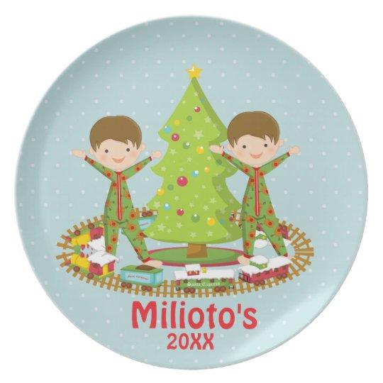 Adorable Christmas Morning Dish With Two Boys