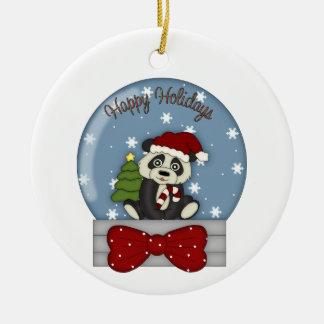 Adorable Christmas Panda Tees and Gifts Christmas Ornament