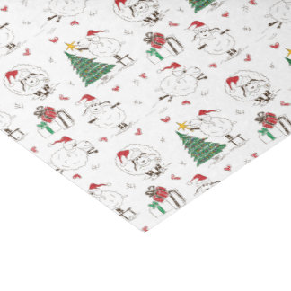 Adorable Christmas Sheep Tissue Paper