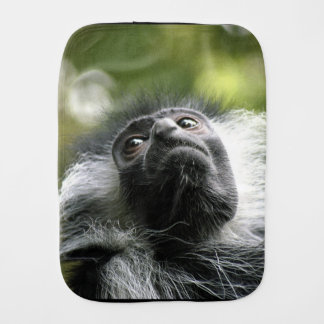 Adorable Colobus Monkey Baby Burp Cloth