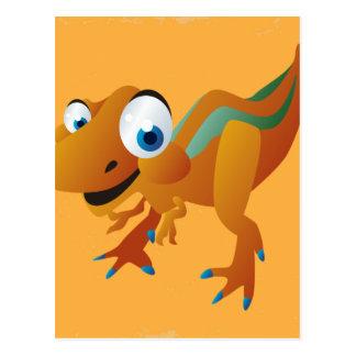 Adorable Colorful Dinosaur Postcard