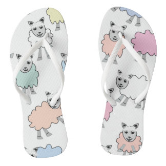 Adorable Colorful Sheep Flip Flops