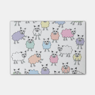 Adorable Colorful Sheep Post-it Notes