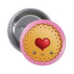 Adorable cookie 6 cm round badge