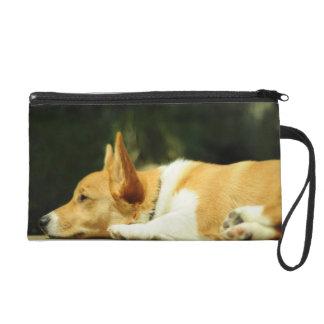 Adorable Corgi Pup Bagette Wristlet