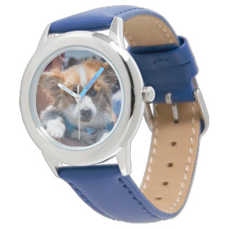 Adorable Corgi Puppy Stainless steel watch