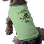 Adorable Customisable St. Pat's Day Pug Sleeveless Dog Shirt