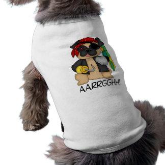 Adorable Customizable Fawn Pug Pirate Tees