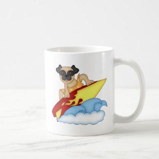 Adorable Customizable Pug Surfer Tees, Gifts Coffee Mug