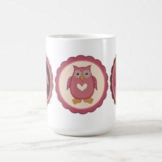 Adorable Customizable Retro Valentine Owls Coffee Mugs