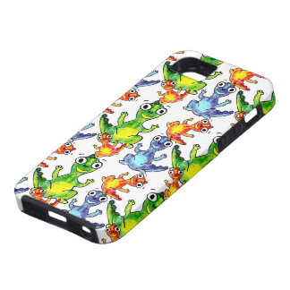Adorable cute baby dinosaurs doodle picture design case for the iPhone 5
