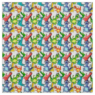 Adorable cute baby dinosaurs doodle picture design fabric