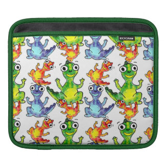 Adorable cute baby dinosaurs doodle picture design iPad sleeve
