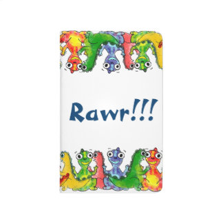 Adorable cute baby dinosaurs doodle picture design journals