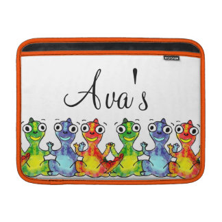 Adorable cute baby dinosaurs doodle picture design MacBook sleeve