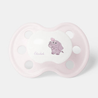 Adorable Cute Cartoon Baby Elephant -Personalized Dummy