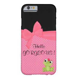 Adorable Cute Frog on Polka Dots-Hello Gorgeous Barely There iPhone 6 Case
